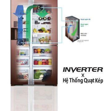 hệ thống quạt inverter kép trên tủ lạnh